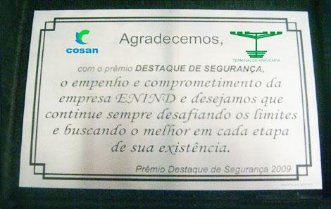 COSAN - Prêmio Destaque Segurança